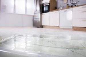 Water damage on the floor