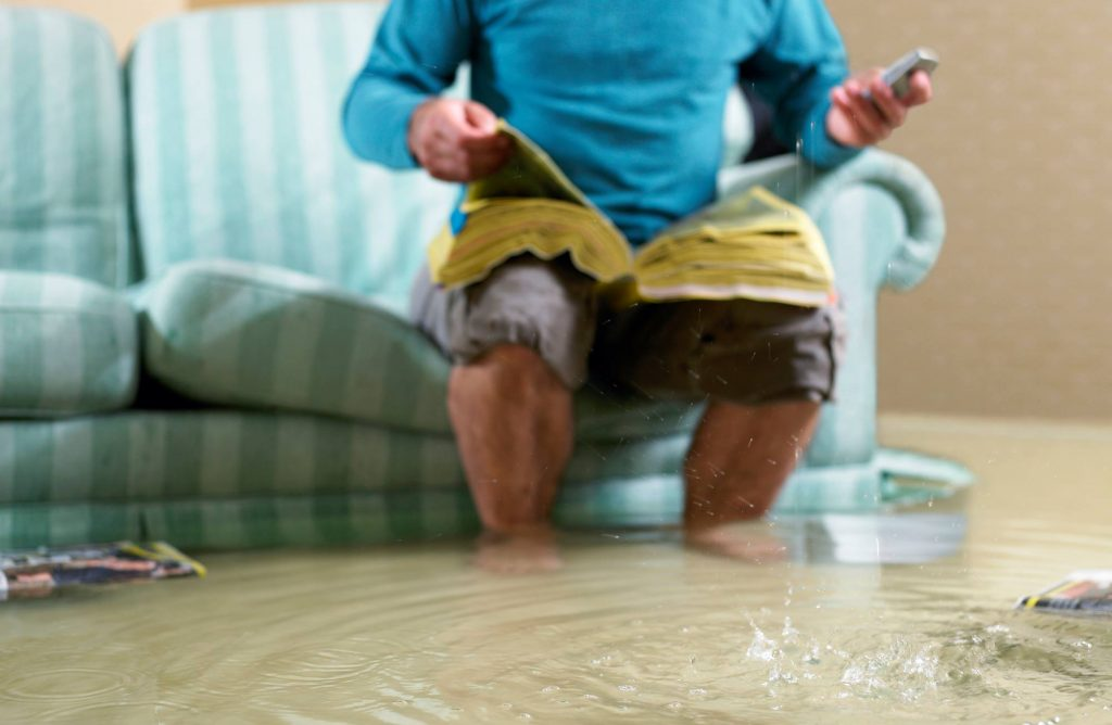 Water damage in the house